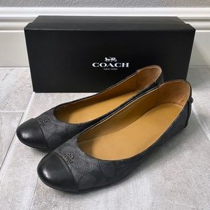 COACH Chelsea Black and Gray Signature Shoes/Flats